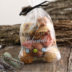 12 mixed macaroons in a bag - La Biscuiterie Lolmede