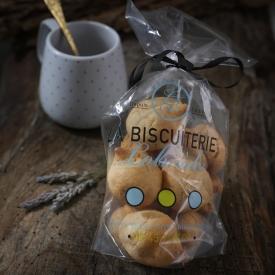 12 natural macaroons in a bag - La Biscuiterie Lolmede