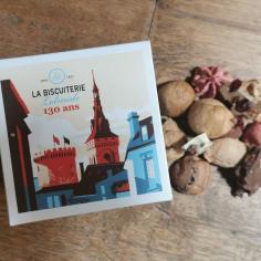 BOITE DE MACARONS ET CHOCOLATS A CASSER - La Biscuiterie Lolmede