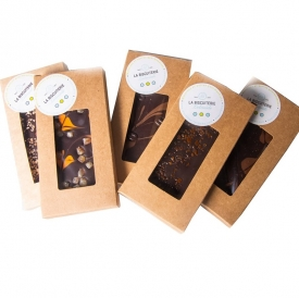 CHOCOLAT NOIR  CARAMEL FLEUR DE SEL - La Biscuiterie Lolmede
