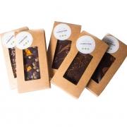 CHOCOLAT NOIR  CARAMEL FLEUR DE SEL - Les tablettes de chocolat noir (poids net : 110gr) - La Biscuiterie Lolmede