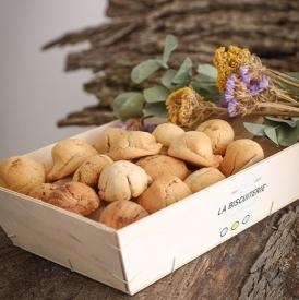 LA GRANDE CAGETTE DE 800GR DE MACARONS NATURE - La Biscuiterie Lolmede