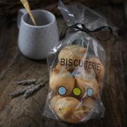 LE SACHET DE 12 MACARONS NATURE - Les sachets de macarons - La Biscuiterie Lolmede