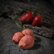 MACARON FRAISE - Les macarons fruités - La Biscuiterie Lolmede