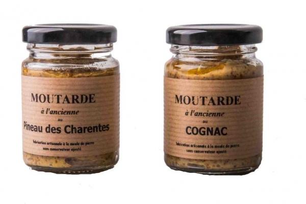 MOUTARDES PINEAU ET COGNAC - 90GR - La Biscuiterie Lolmede